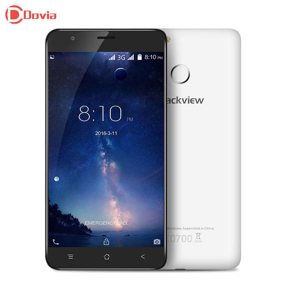 Blackview E7S Android 6.0 5.5 inch 3G telephone MTK6580 Quad Core 2GB RAM 16GB ROM Fingerprint Scanner GPS 2700mAh Mobile Phone(China (Mainland))