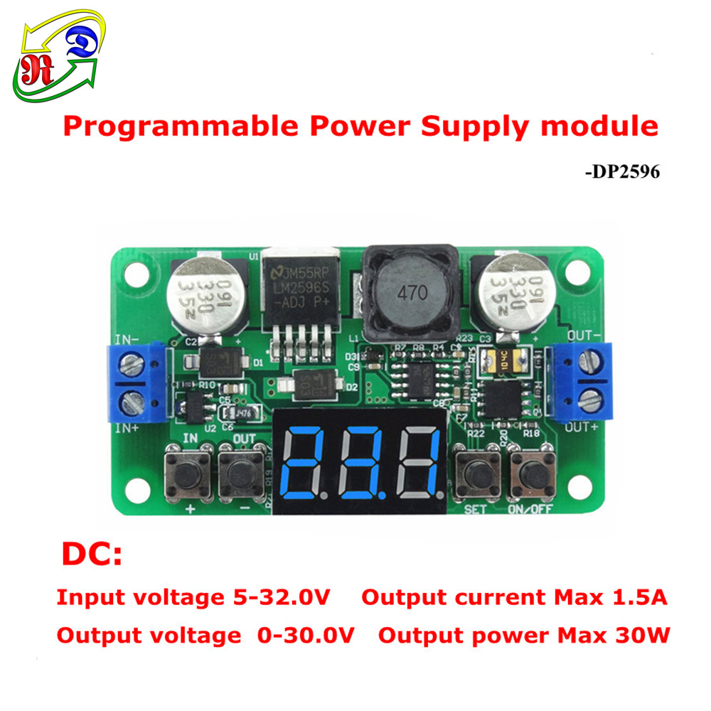 RD LM2596 Constant Voltage Step-down Programmable Power Supply buck converter Digital voltage meter led display Blue [2 pcs/lot](China (Mainland))