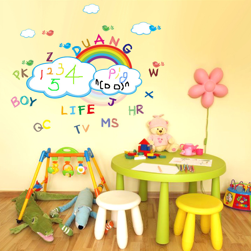 Buy Cartoon Rainbow White Board Sticker