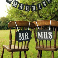 """1set """"Mr&Mrs"""" Letter Garland Banner, Photo Booth, Wedding party Photography Props Decoration 265G(China (Mainland))"""