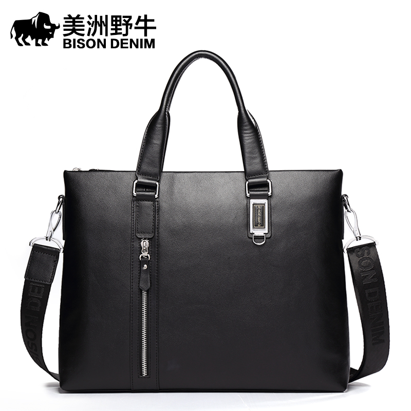 2016 Men Shoulder Bags High Quality Genuine Leather Briefcases Famous Brand Messenger Bag Men's Business Travel Bags Laptop Bags(China (Mainland))