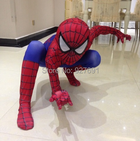 2016 NEW Spiderman Costume Spider Man Suit Spider-man Costumes Children Spider-Man Cosplay Superhero Clothing Halloween costume(China (Mainland))