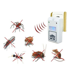Ultrasonic Pest Repeller Electronic Pest Control Rodent Mouse Anti Mosquito Insect EU Plug ABS 100-240V(China (Mainland))