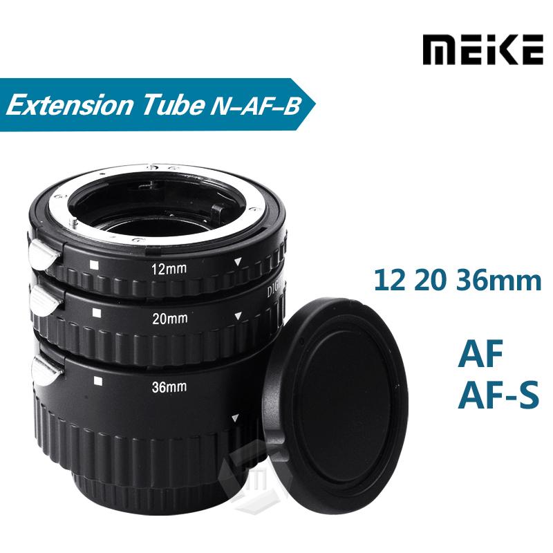 Meike N-AF1-B Auto Focus Macro Extension Tube Set Ring for Nikon D7100 D7000 D5100 D5300 D3100 D800 D600 D300s D300 D90 D80(China (Mainland))