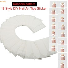 One Set Nail Art White French Manicure Guide 18 Styles Tips Guides Stickers Stencil - Many Beauty Shop store