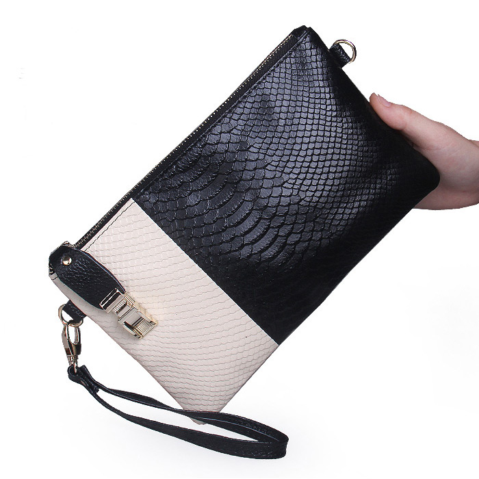 Hot Sale 2015 Direct Selling Single Handbags New Animal Skin Clutch Bag Women's Ladies' Day Clutches Women Messenger Bags(China (Mainland))
