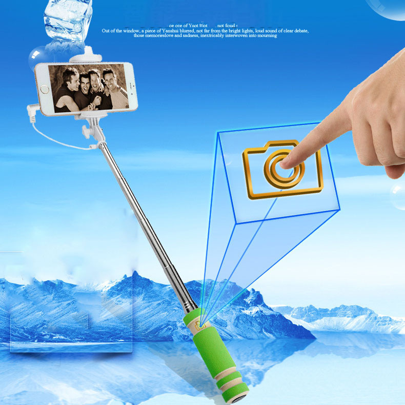 image for Handheld Wired 60mm Selfie Stick Accessory For IPhone Extendable Monop