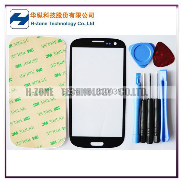 Freeshipping Black Outer LCD Touch Screen Lens Top Glass with Free Tools Parts Replacement For Samsung Galaxy S3 S 3 i9300(Hong Kong)