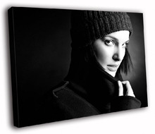 HD Canvas Printings Painting-Natalie Portman Actress Overcoat BW D7829(China (Mainland))
