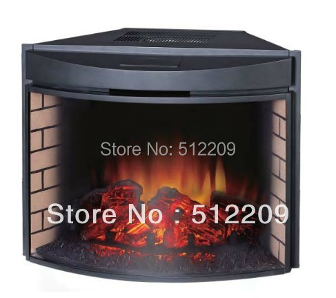 Decorative Electric Fireplace Insert Heater 26 Inch Curve Front Glass Door Remote Control The