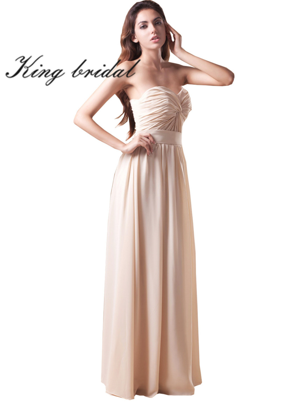 2016 elegant sweetheart long evening dresses sexy front for Long elegant dresses for weddings