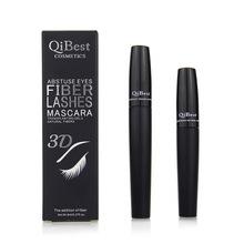 Neue Stil QiBest Schwarz Mascara 3D Faser Make-Up Wasserdicht Curling Verlängerung natürliche Eye Lashs Mascara Kosmetik Werkzeuge(China (Mainland))