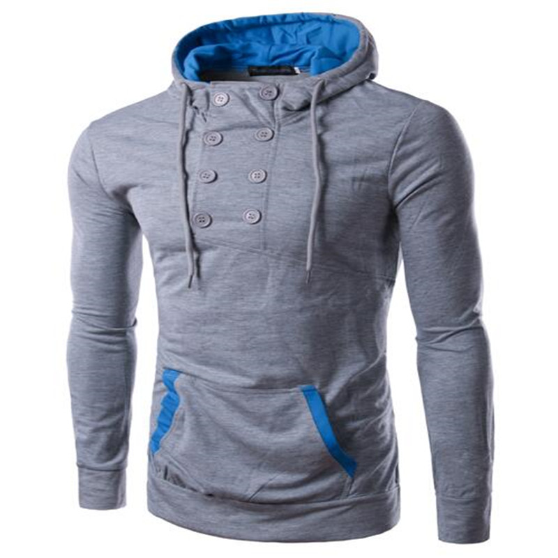 2016 Men's New Fashion Spell Color Sweatshirts Sports Leisure Hooded Pullover Shirt Slim Korean Fashion Multicolor Brother M-2XL(China (Mainland))