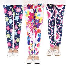 Summer style 2-13Y Baby Kids Leggings Children's Clothing Girl Pants  Printing Flower Girls Leggings Toddler Classic Legging(China (Mainland))
