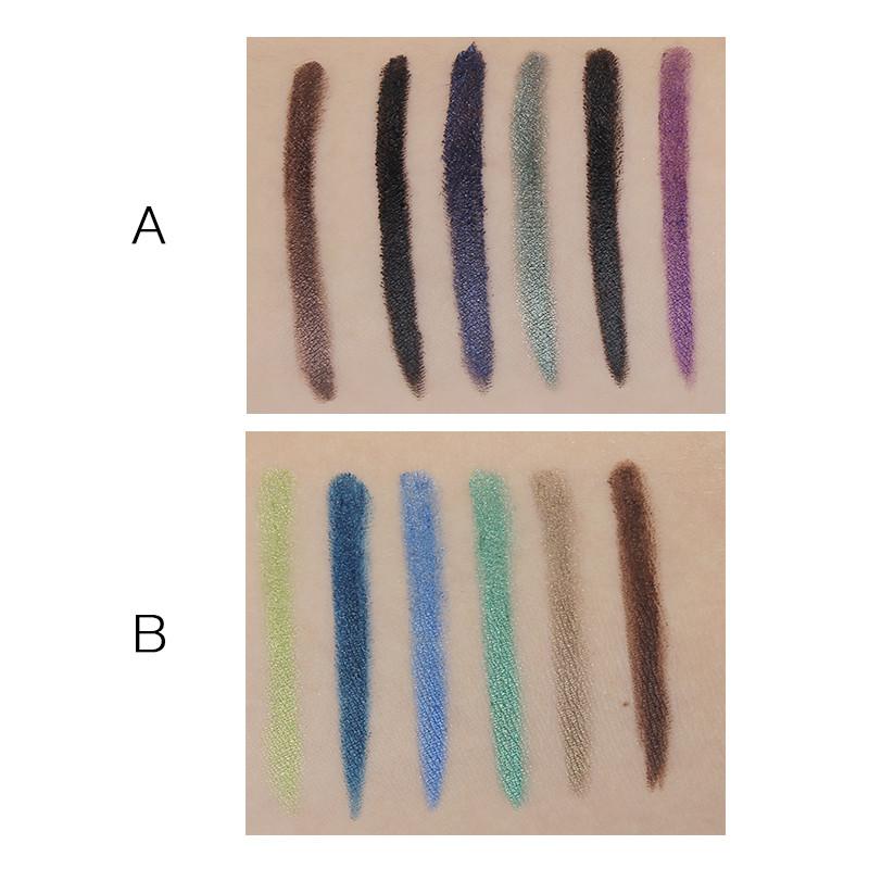 Senhora marca de Maquiagem M. n Sombra de Olho Conjunto de Lápis 6 Cores Brilho Lápis Delineador Gel Maquiagem Lápis Delineador à prova d' água cosméticos