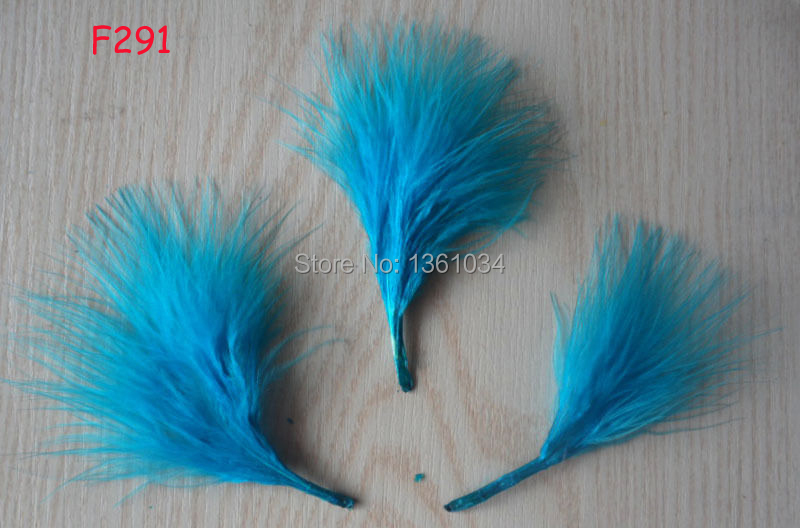 "100pcs Beautiful dyeing Turkey vascular velvet feather 2-4"" 11 lake blue(China (Mainland))"