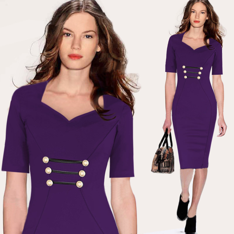 2015 sexy slim women bandage dresses new city studio formal evening party purle red fitted pencil dress deep v bodycon vestidos(China (Mainland))