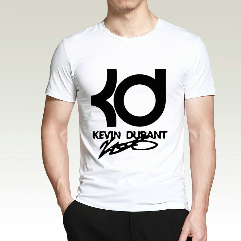 New 2017 Fashion Funny Tee Shirt Hipster Summer T Shirt Crew Neck Kd Basketballer Short Printing Machine T Shirts For Men(China (Mainland))