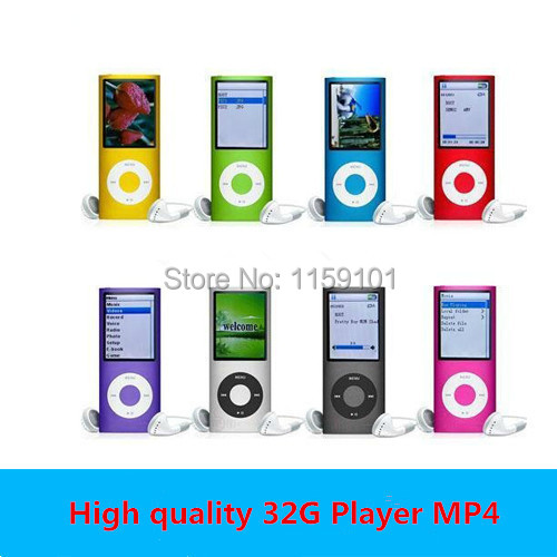 Music playing time 30Hours Slim 1.8' 4th gen 32GB 9 Colors mp3 player music player fm radio ebook video player free shipping(China (Mainland))