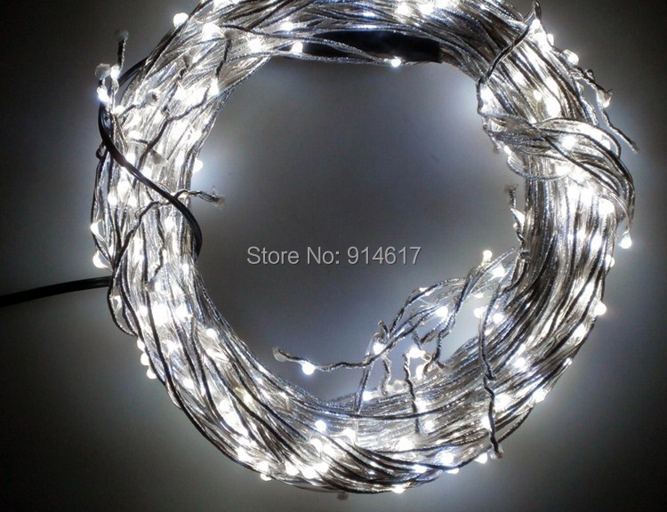 12 Volt Waterproof Copper string light 10M 100 LED Outdoor Christmas fairy lights Pink Purple ...