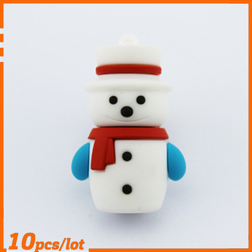 100% Genuine USB Flash Drive handsome snow man shaped memory stick cool pen drive 4GB 8GB 16GB 32GB 64GB pendrive hot sale cheap(China (Mainland))