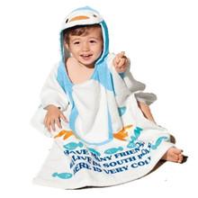 1pcs retail / 100% cotton/Child swimwear bathrobe beach towel baby cloak cape baby bath towel bathrobes