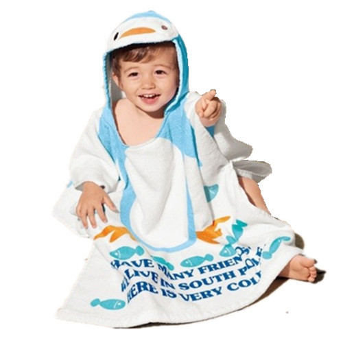 Hot sale 100% cotton baby beach gown child bathrobe beach towels baby cloak cape baby bath towel child bathrobes free shipping(China (Mainland))