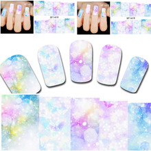 1sheets Fashion Beauty 3D DIY Designs Water Transfer Stickers Nail Art Decals Full Wraps Temporary Tattoos Decorations XF1419