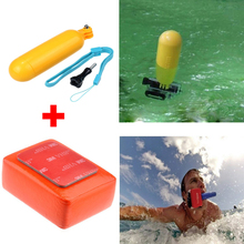 Go pro Accessories Handheld Bobber Monopod+Gopro Floating Mount + 3M Adhesive + Screw For Gopro Hero3 hero 3 3+ 4 session Camera
