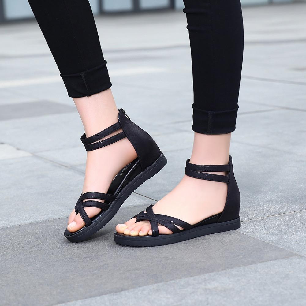 Black Strappy Shoes Sax