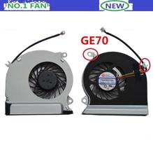 Новый ноутбук процессора вентилятор охлаждения для MSI GE70 MS-1756 MS-1757 ноутбук кулер PAAD06015SL 3pin 0.55A DC 5 В