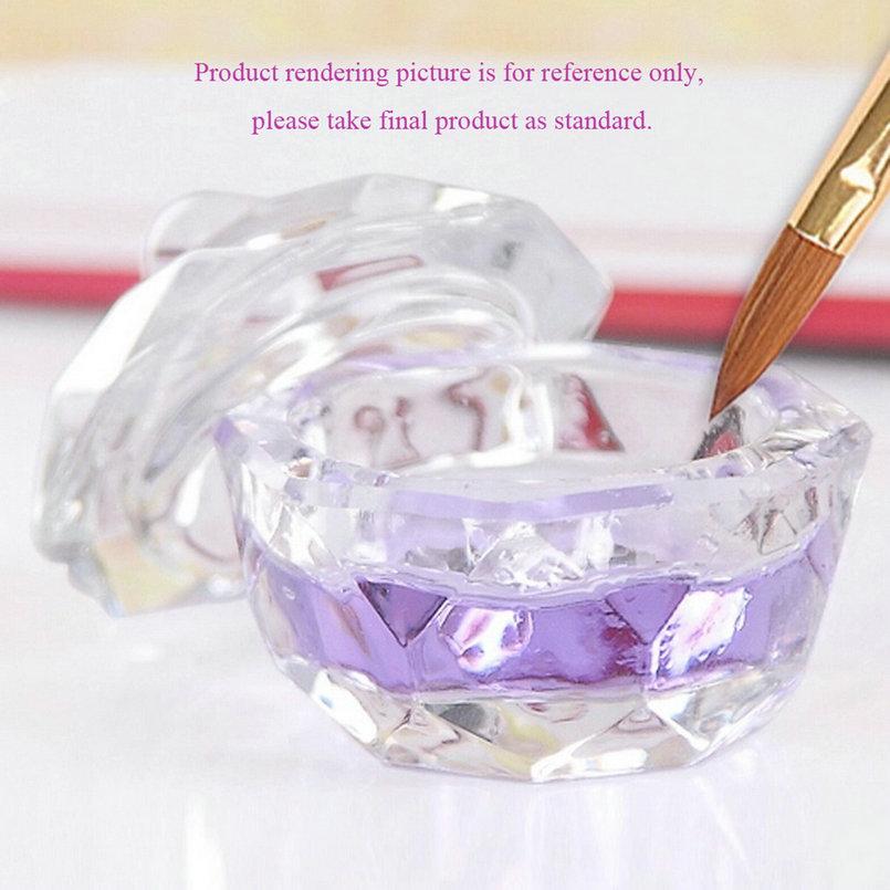 Nail Tools Crystal Glass Dappen Dish Cup Nail Art Acrylic Liquid makeup Powder Nail styling tool nail dust collector Beauty(China (Mainland))