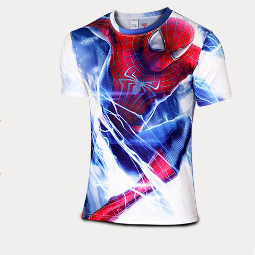 NEW Spider-man marvel compression shirt men fitness crossfit t shirt gym bodybuilding tights sport Quick-drying clothing(China (Mainland))