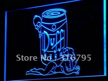 a139-b Duff Simpsons Beer Bar Display LED Neon Light Sign