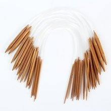 Buy 18Pairs 18sizes Circular Nature Bamboo Carbonized Knitting Needles Free AA for $2.42 in AliExpress store