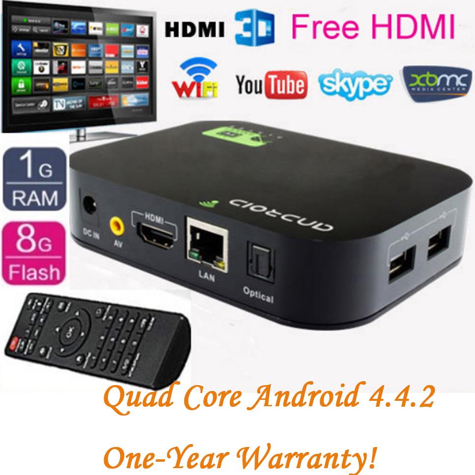 Free Ship + Drop shipping Quad Core Android 4.4.2 Smart TV Box Kodi Media Player 1080P WIFI HDM XBMC YOUTUBE(China (Mainland))