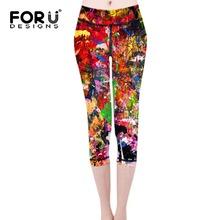 Buy FORUDESIGNS Fashion Gaffiti Prints Leggings Workout Women Skinny Elastic Pants Legging Ladies Workout Clothes Leggins Women for $17.59 in AliExpress store