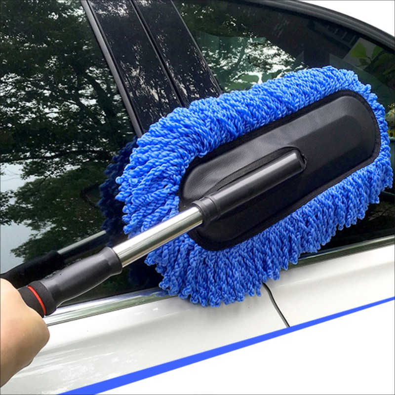 Car wash supplies cleaning mop dust washing brush duster wax auto supplies automotive telescopic wax brush tool New good quality(China (Mainland))