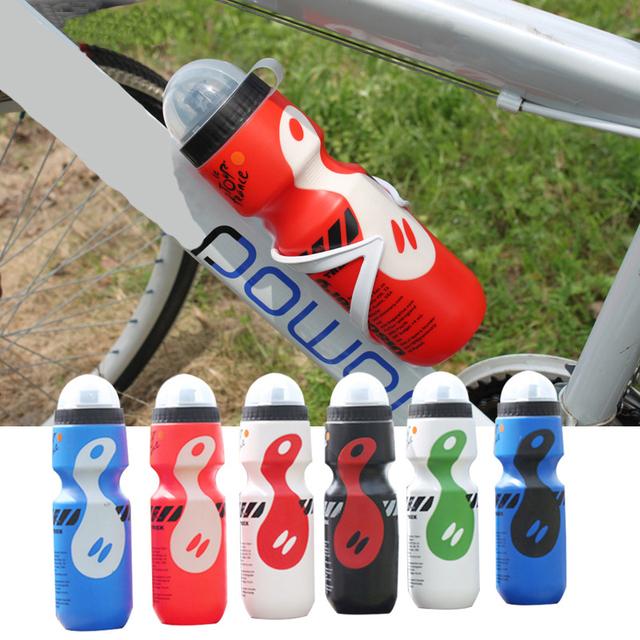 Портативный пластиковые открытый 650 мл горный велосипед велоспорт спорта бутылку воды с соломенной крышкой черный цвет