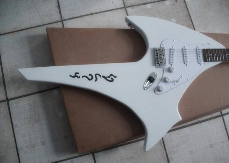 New style Hot sell Alien B.C.Rich iron g 6 strings electric guitar The white model 0331(China (Mainland))