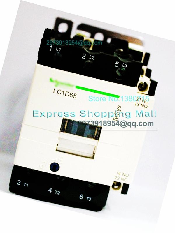 Фотография New LC1D65F7C Contactor 65A AC 110V 50/60Hz LC1-D65F7C