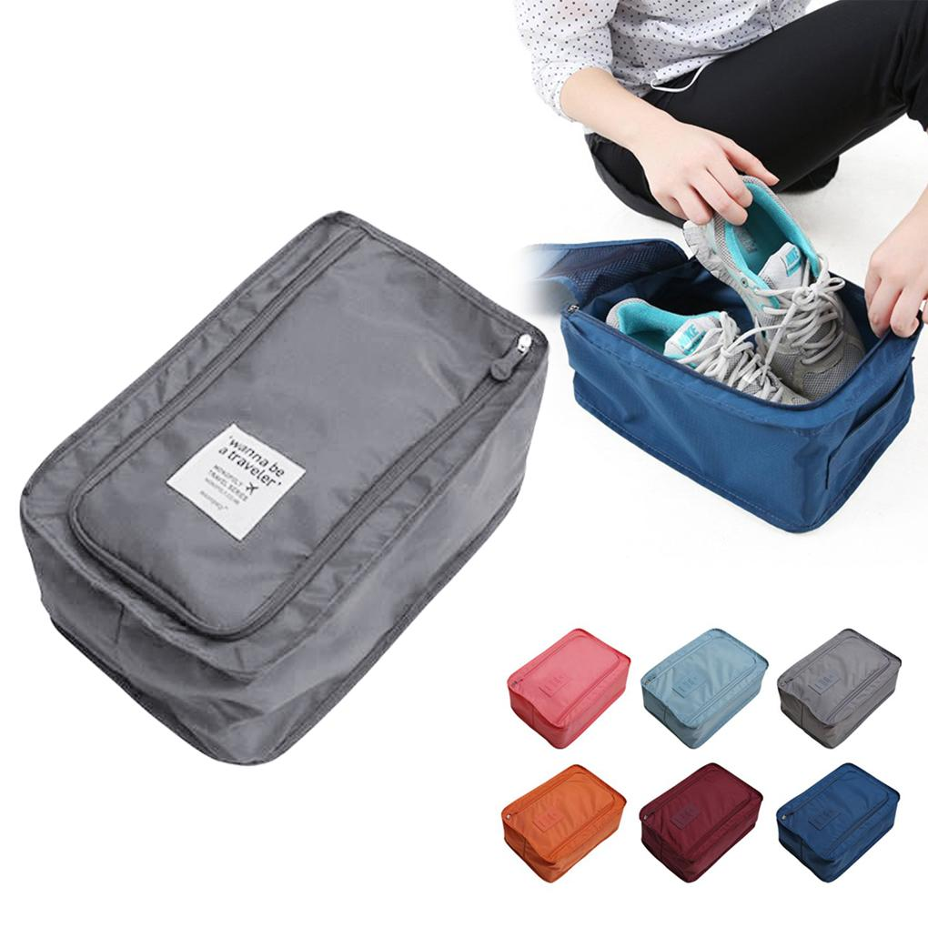 Convenient Travel Storage Bag Nylon 6 Colors Portable Organizer Bags Shoe Sorting Pouch multifunction(China (Mainland))