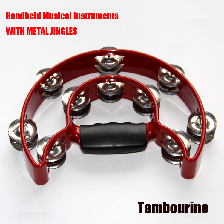 Alice Red Handheld Musical Instruments WITH METAL JINGLES Tambourine High-quality metal jingles<br><br>Aliexpress