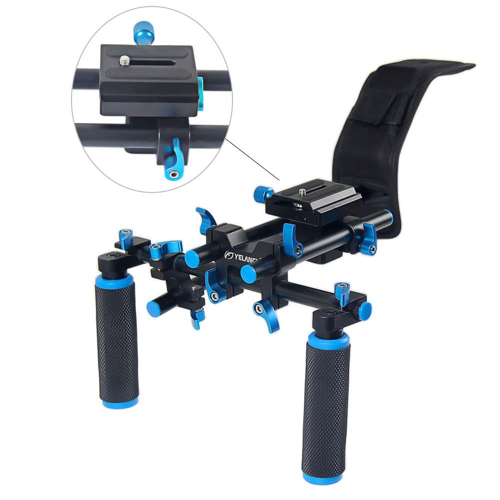 New Portable DSLR Rig Film Maker System Dual-hand Handgrip Shoulder Mount For Canon Sony Nikon SLR Video Camera DV Camcorder<br><br>Aliexpress