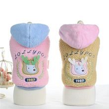 Buy Cute christmas Small Dog puppy elk costume hoodie winter Warm fleece dog cat Pet coat jacket clothing chihuahua dog clothes for $8.88 in AliExpress store