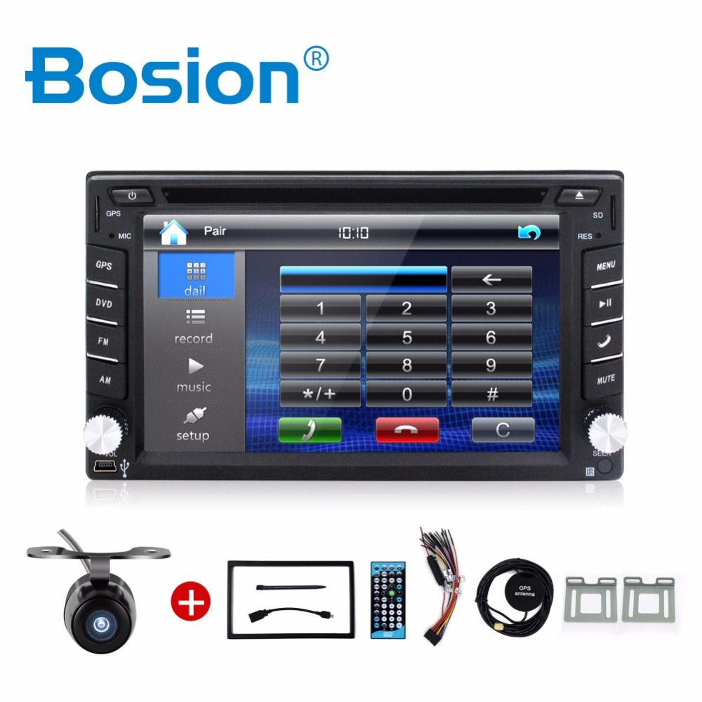 Car Electronic 2din car dvd player GPS Radio Tuner PC Video Monitors for universal RDS Blutooth digital tv (option) Free camera(China (Mainland))