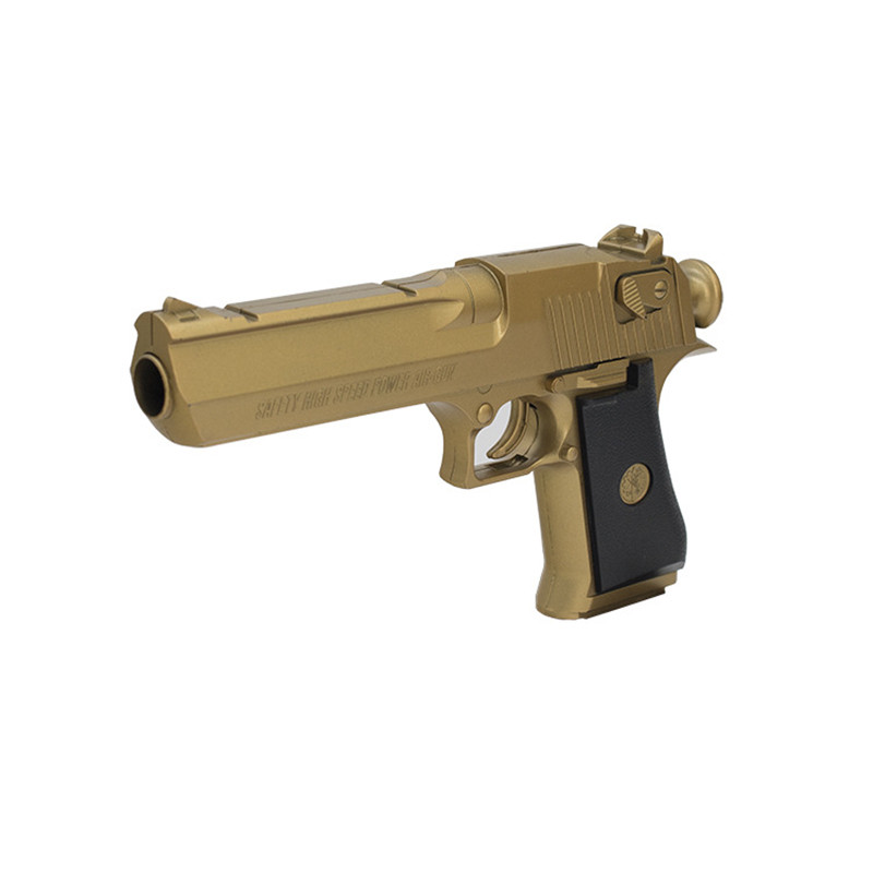 New Gun Military Simulation Pneumatic Gun Gold Desert Eagle Toy Gun Soft Bullet Children Model Edition Educational Puzzle(China (Mainland))