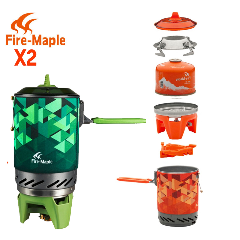 FMS-X2 X3 Fire Maple compact One-Piece Camping Stove Heat Exchanger Pot camping equipment set Flash Personal Cooking System(China (Mainland))