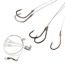Hot sale Fishing Wire String Hooks Lure Baits Hooks Hook Fishing Tackle Outdoor Sports retail High