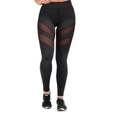 Buy Lisli Women's Mesh Panels Stretchy Workout Elasticity Pants High Waist Trousers Leggings Casual Skinny 01C0490 for $10.36 in AliExpress store